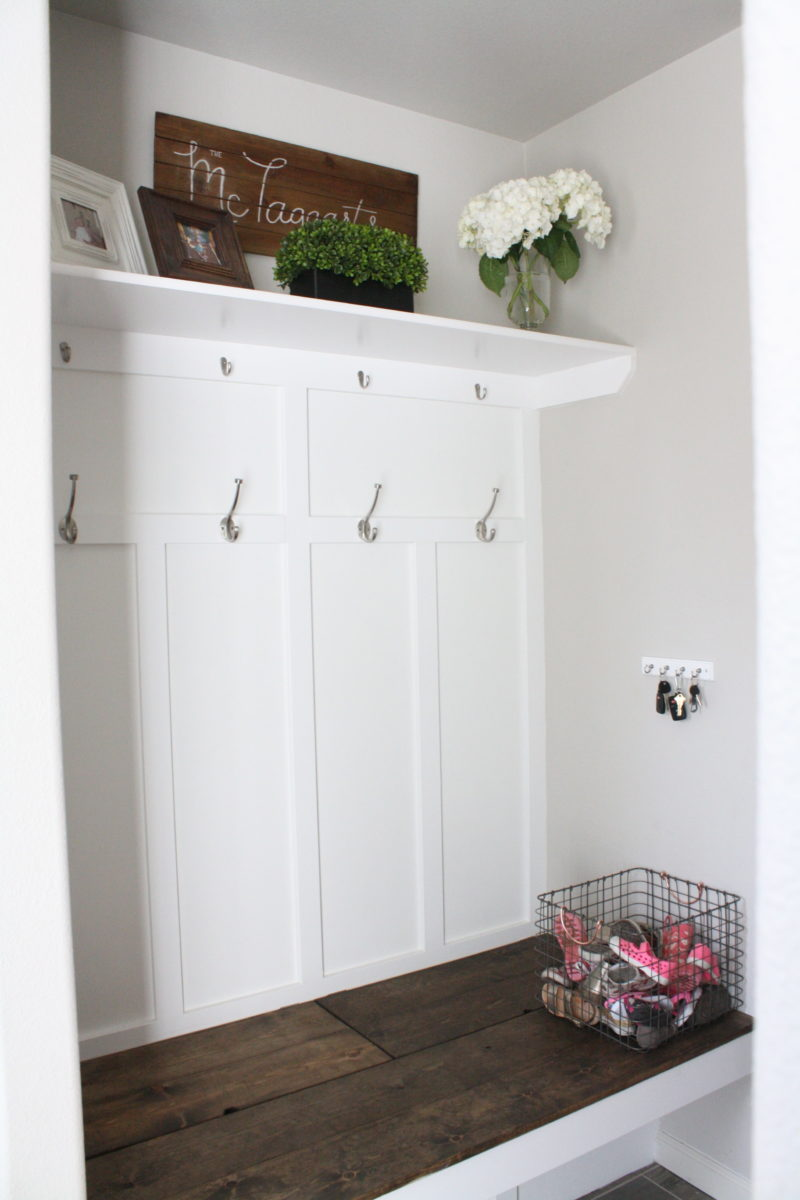 completed mudroom