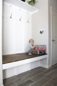 finished mudroom