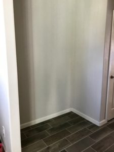 before shot of the mudroom space