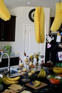 banana first birthday party