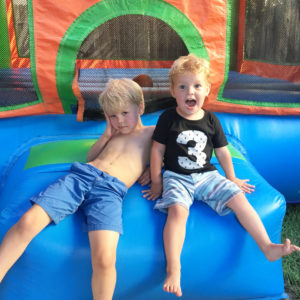boys at birthday party