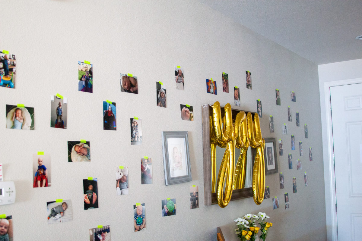Pictures at a banana themed first birthday