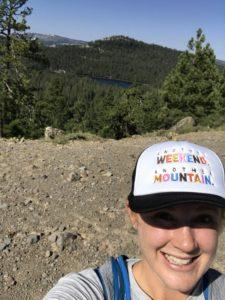 Heather on trail