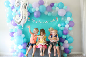mermaid party balloon garland