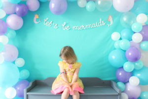 mermaid party balloon garland