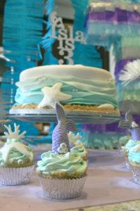 mermaid party birthday cake