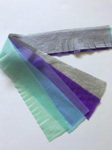 tissue paper for pull string piñata