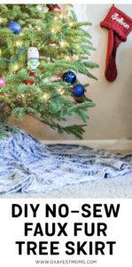 DIY no-sew faux fur tree skirt   www.okayestmoms.com