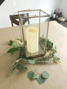 Thanksgiving harvest fall tablescape centerpiece