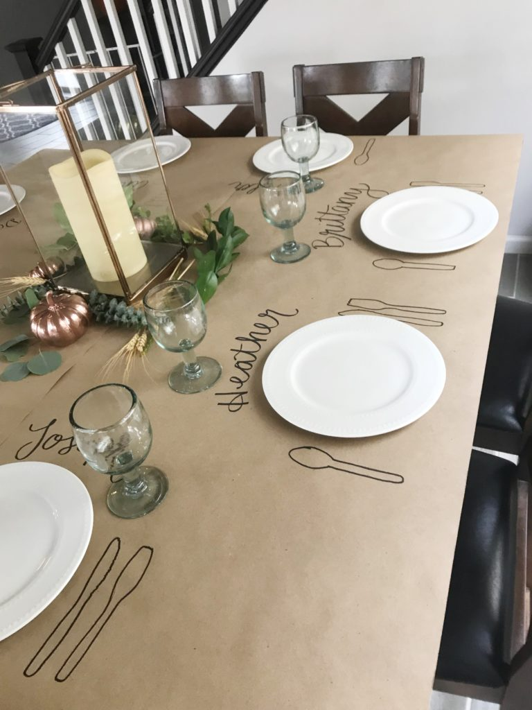 thanksgiving fall harvest centerpiece tablescape