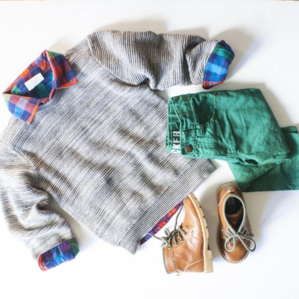 flatlay holiday kid style with Crazy8 | www.okayestmoms.com
