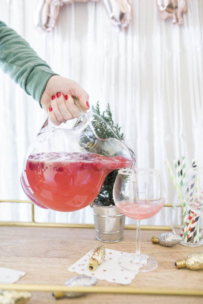 pink lemonade champagne punch