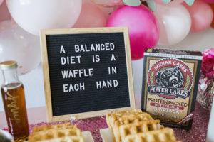 galentines day waffle bar