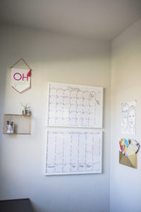 wall calendar IKEA frame hack
