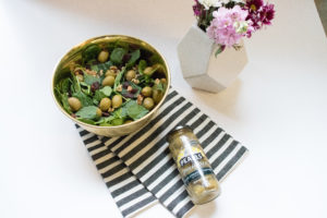 Pearls Blue Cheese Stuffed olives spring salad