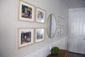 pictures hung in entryway