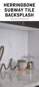 Herringbone Subway Tile Backsplash