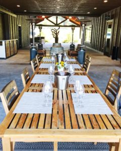 Table at Comstock Wines tasting