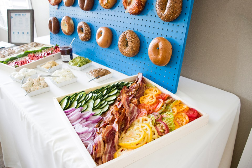 savory toppings for bagel bar