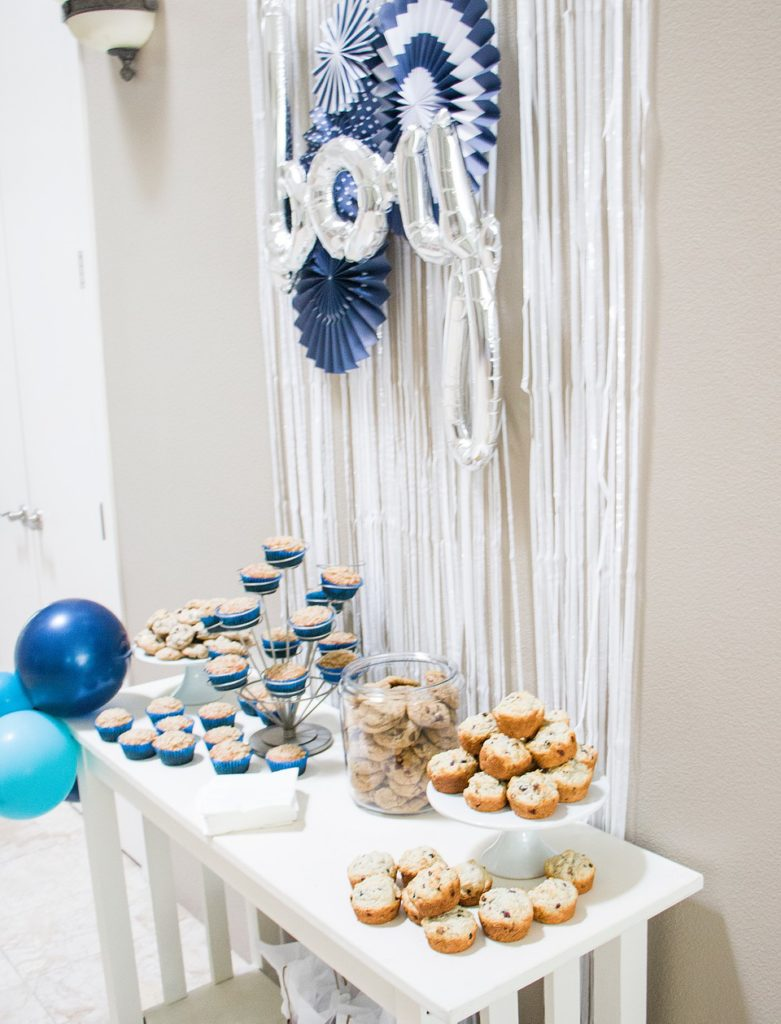 pastry bar at boy baby shower