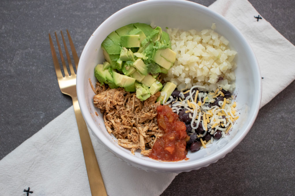mexican chicken used in a burrito bowl