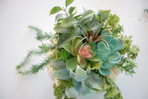 finished diy faux succulent