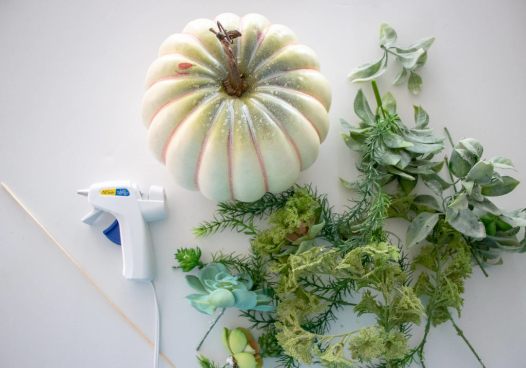 supplies to make a diy faux succulent