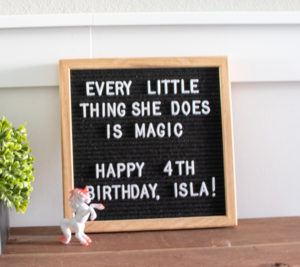 every little thing she does is magic letter board quote