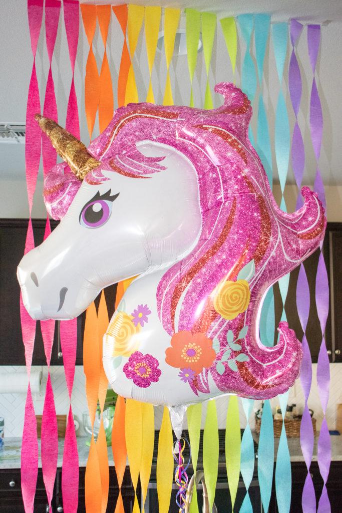unicorn mylar balloon
