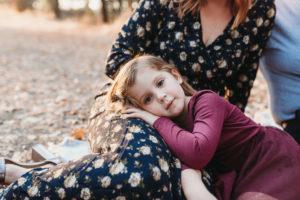 daughter at family photos