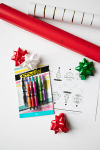 G2 Pilot Gel Pens jazz up your gift tags for the holidays