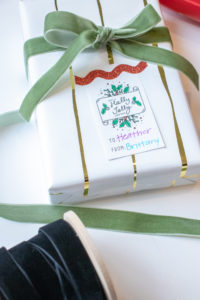 free customizable printable gift tag
