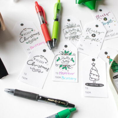 free customizable printable gift tags
