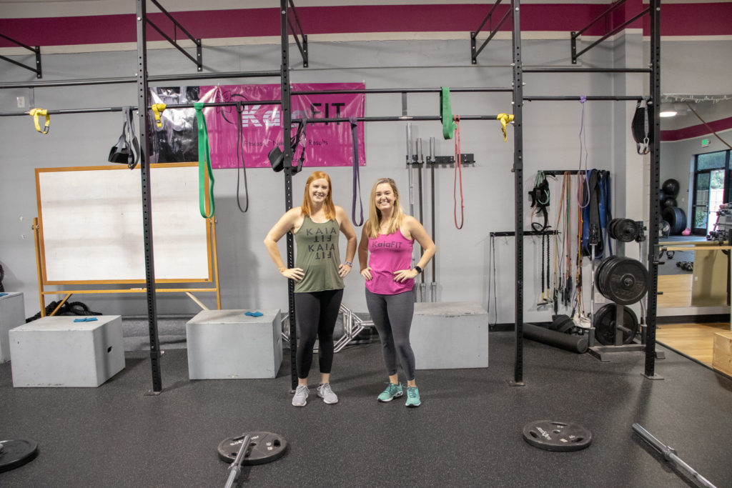 Heather and Brittany at Kaia Fit