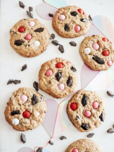 valentines day monster cookies