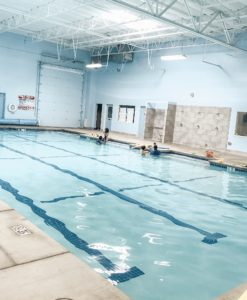 the indoor pool at steve wallen swim school