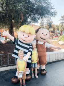 Peanuts characters and kids