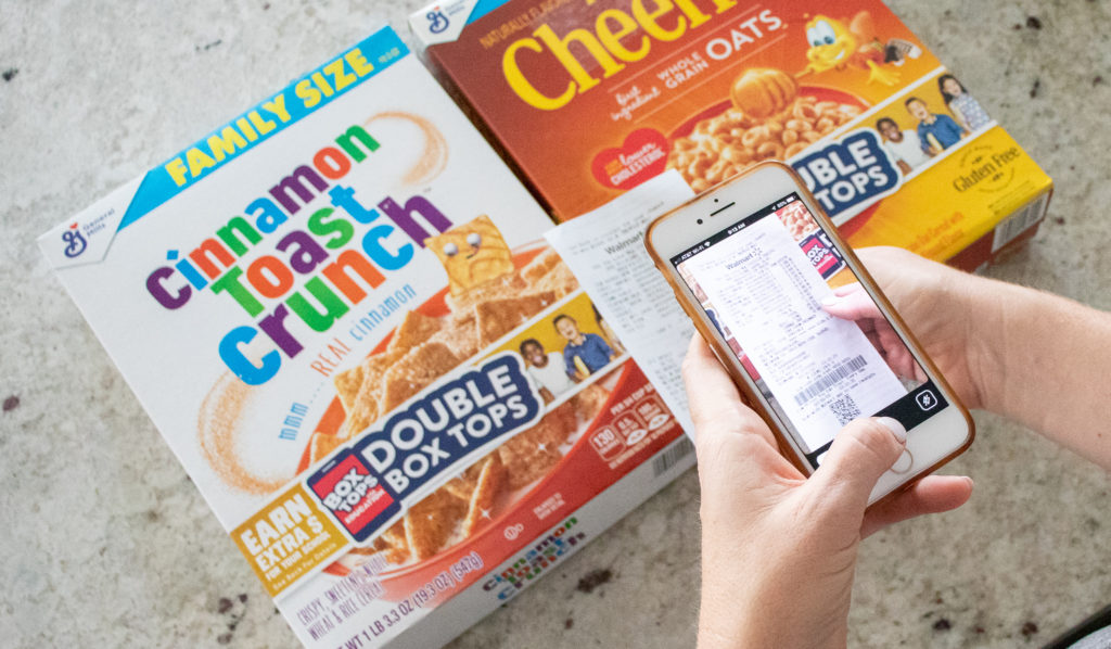 scan box tops with an app on your phone