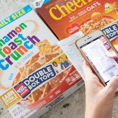 Box Tops for Education at Walmart scan box tops with an app on your phone