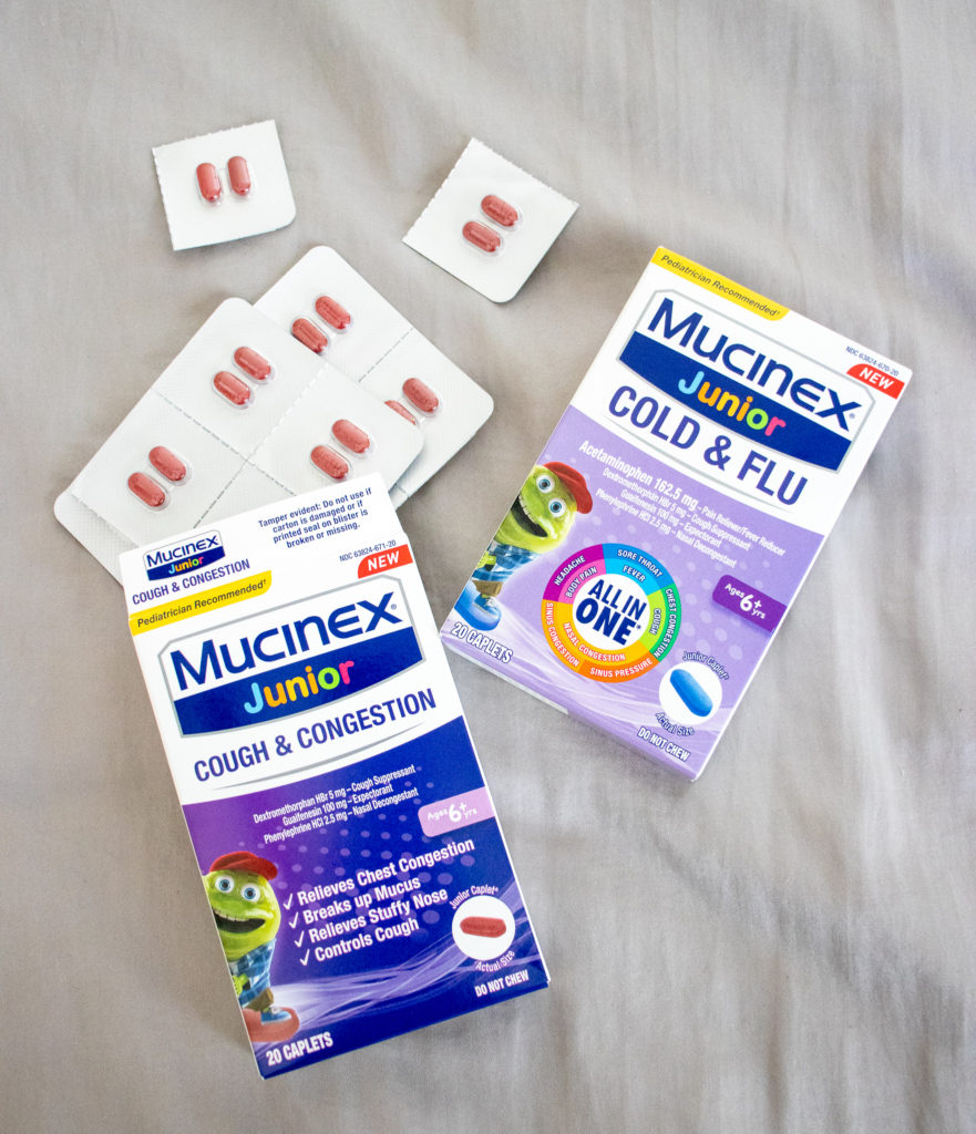 Mucinex Junior Cold & Flu is essential to keep in your Mom Bag because you never know when your kids will start to feel under the weather- Okayest Moms