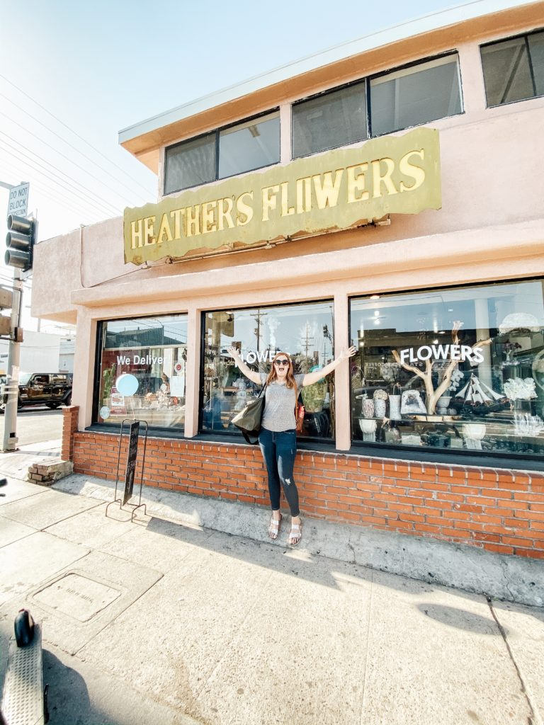 Heather in front of shop in Venice Beach