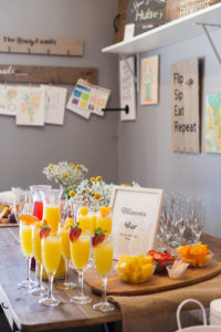 Mimosa Bar at Brunch Party- Okayest Moms