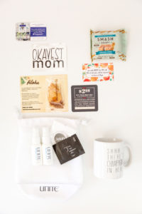 Contents of Brunch Party swag bag- Okayest Moms