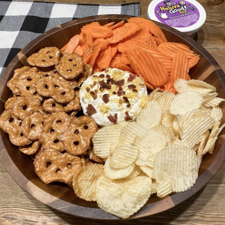 Loaded Bacon Cheddar Ranch Dip is the perfect Thanksgiving appetizer