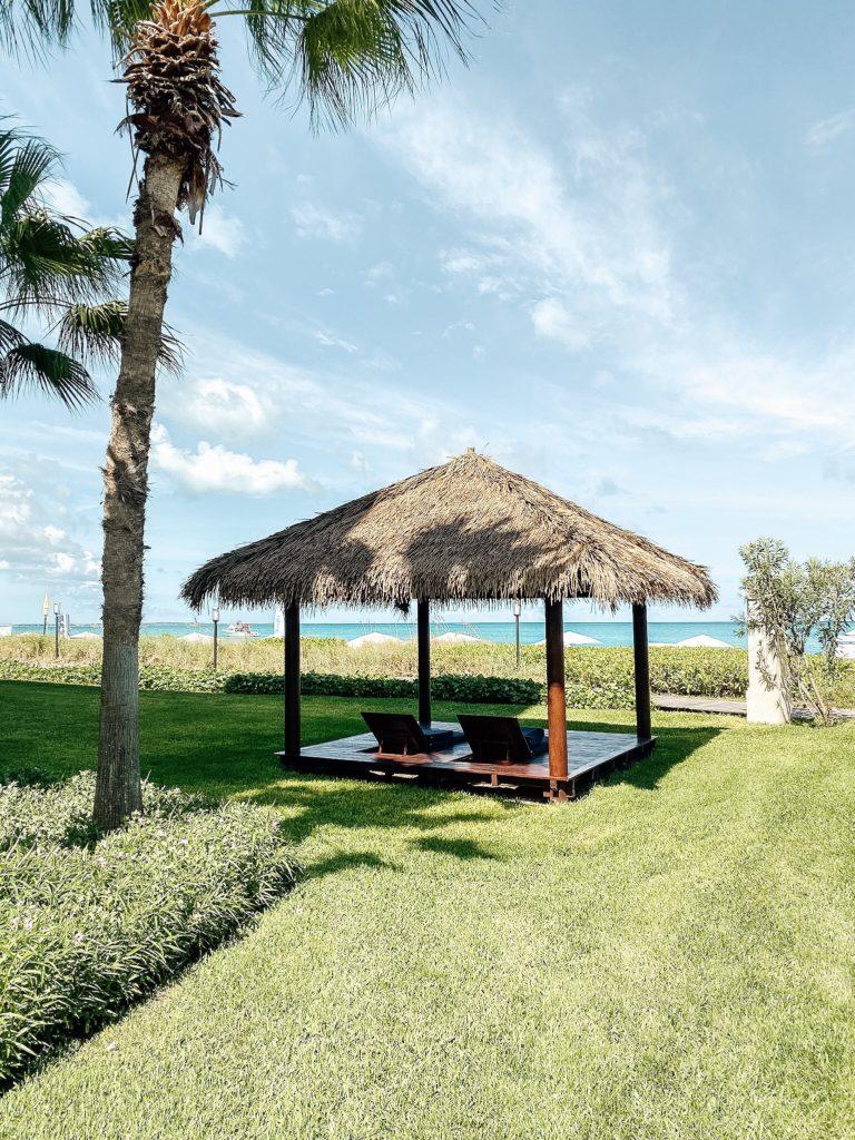 cabana on the ocean