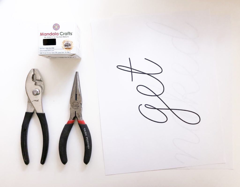 pliers and wire for craft
