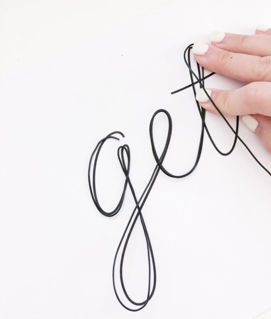 wire and template for craft