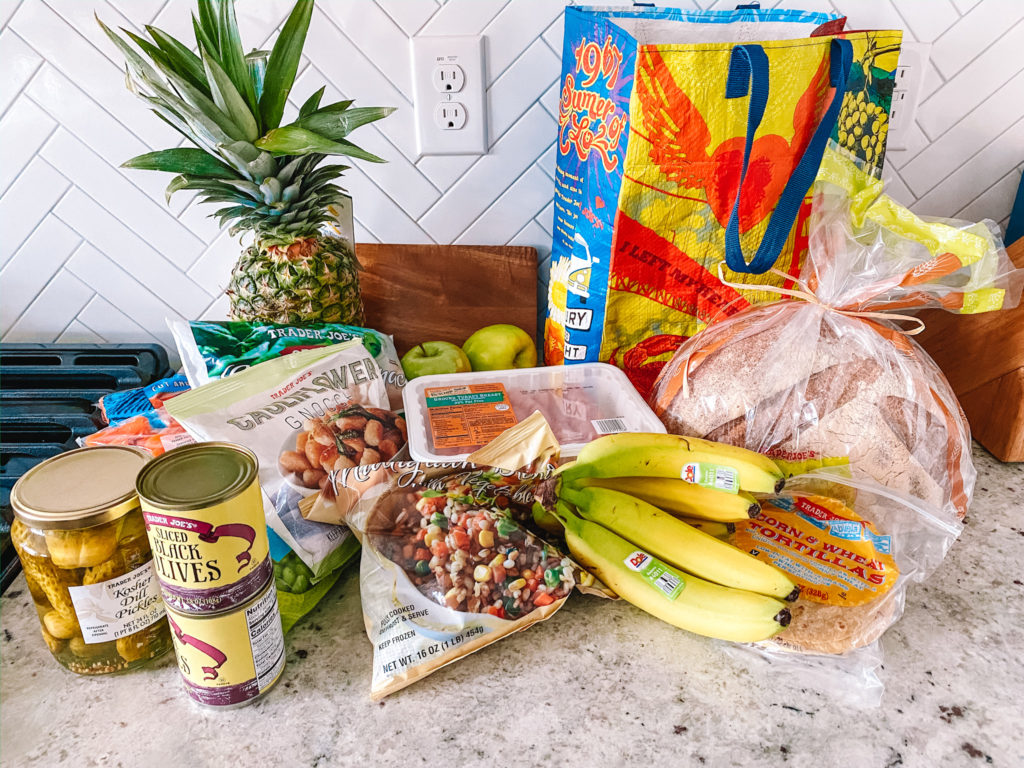 items from a Trader Joe's grocery haul