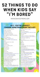 52 things for kids to do when they're bored