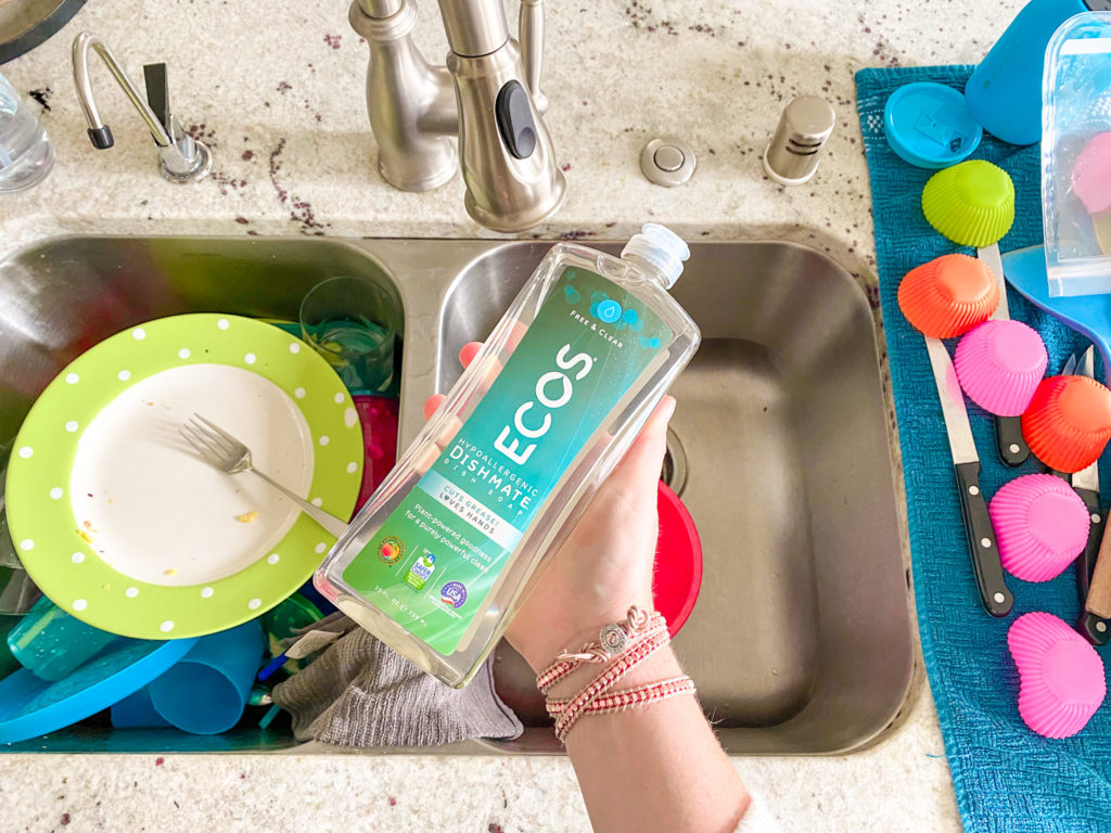 ECOS dish soap is a budget friendly green option.